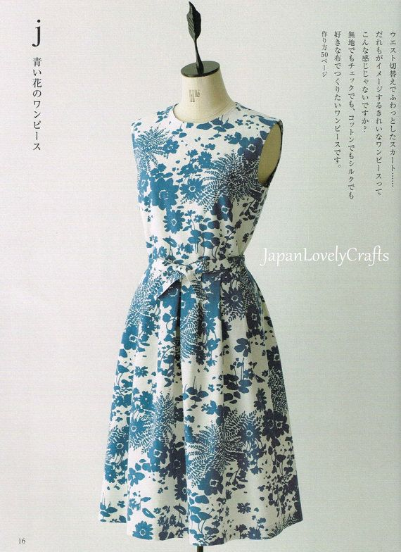 Simple Style Dress Pattern, Machiko Kayaki, Easy Sewing Tutorial for ...