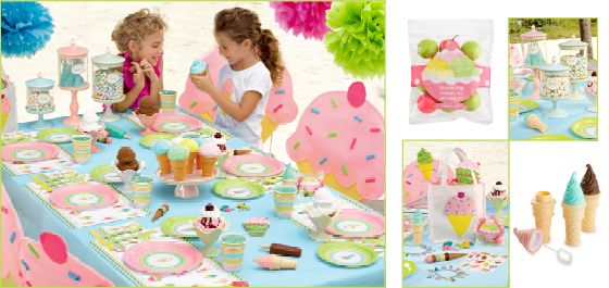 Cupcake chair covers ice cream party