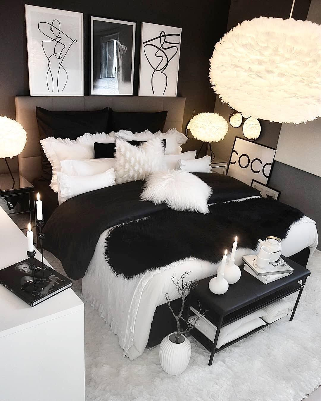Black White Room Goal We Want All Like A Room Like This We Hope You Have A Nice Weekend Su Room Ideas Bedroom Master Bedrooms Decor Room Decor Bedroom