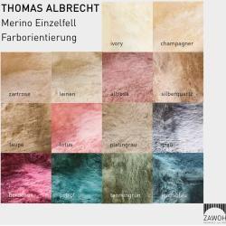 Thomas Albrecht Merinolamm Einzelfell silberquartz Thomas Albrecht