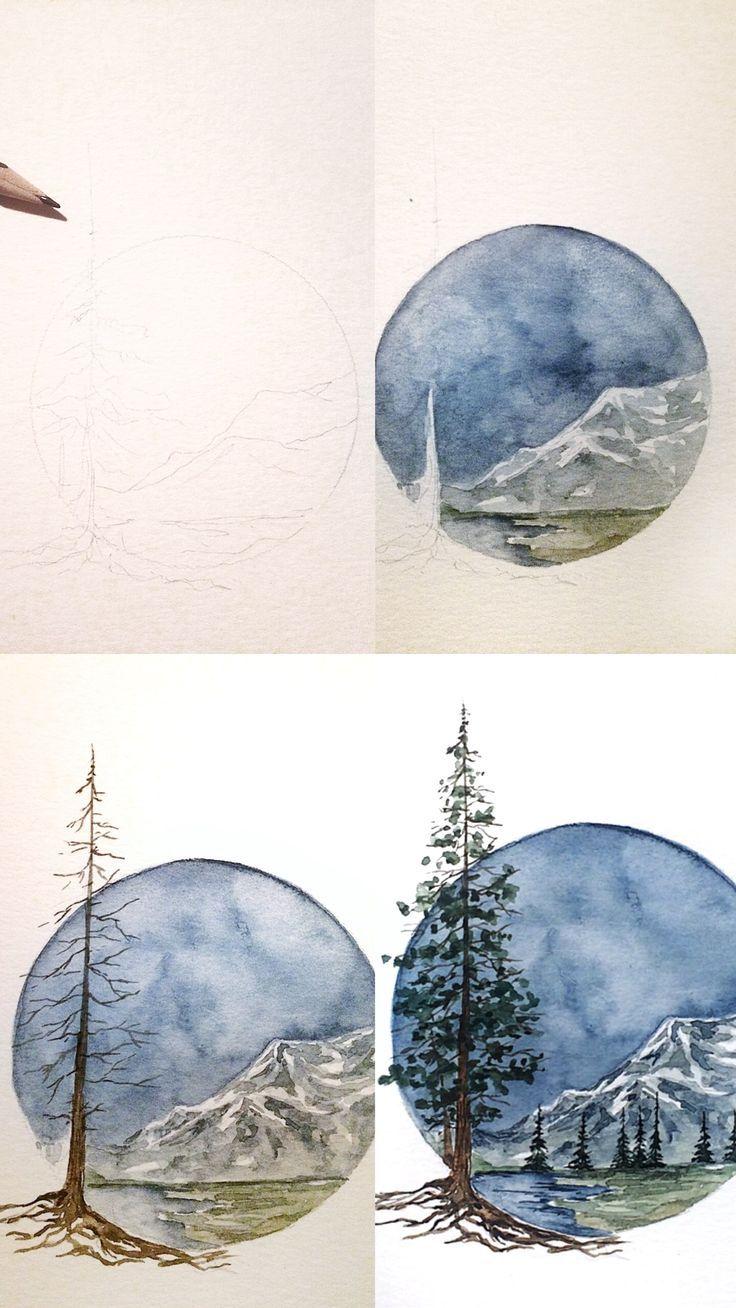(Rosie Shriver.sketchbook) Mini Natur inspiriert Illustration Malerei. #aquarell #aquarell #malerei #skizze #sketchart