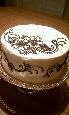 Henna Cake Simple And Really Pretty Someday Pinterest