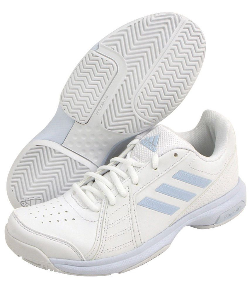san francisco 2fa85 ae68a adidas Women s Tennis Shoes Aspire White Sky Blue Racket Racquet Court  CM7759  adidas