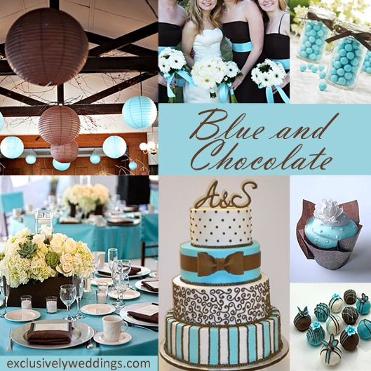 Pink And Brown Wedding Ideas: Blue And Chocolate Wedding Colors