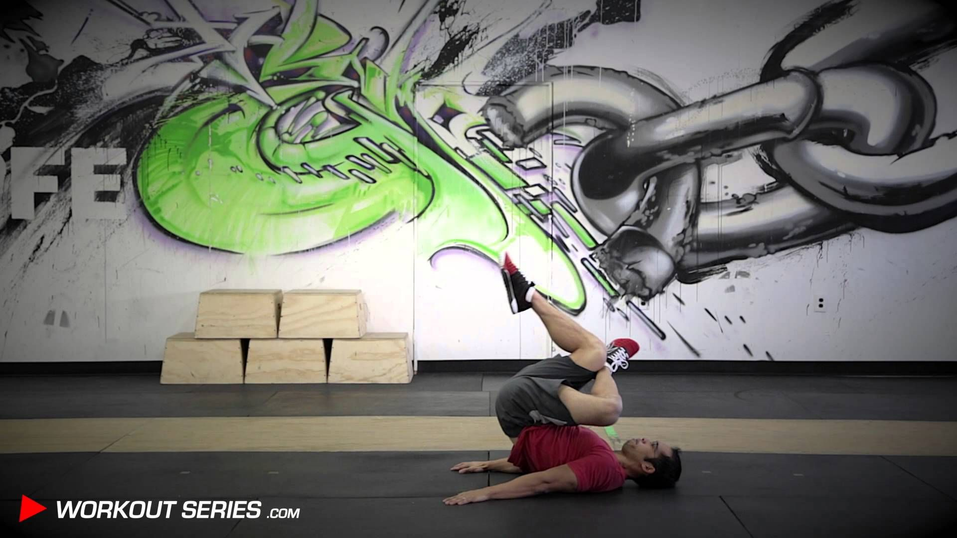 Exercise of The Day:  Crossed Leg Reverse Crunch Left  Do you want to take on full-length workout videos - when and where it's convenient to you? Go to WorkoutSeries.com and access it now for FREE.