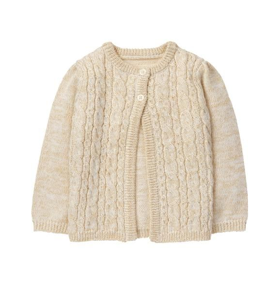 f918df6adf0d Newborn Ivory Cable Knit Cardigan by Gymboree