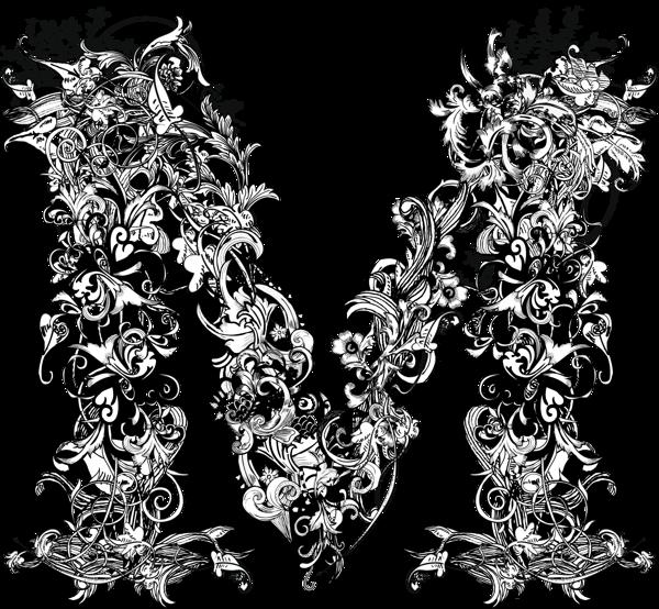 597d6a111e97 LETRA M EN BLANCO Y NEGRO | M K, my monogram | Alphabet, Alphabet ...