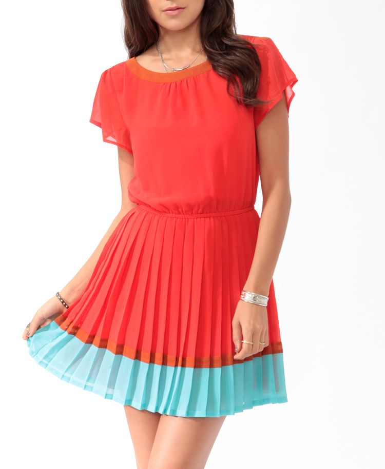 Pleated Colorblock Dress | FOREVER21