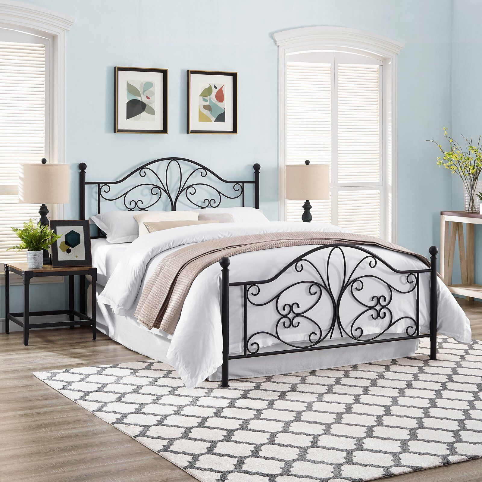 April Open Frame Headboard And Footboard In 2020 Metal Headboard Headboard And Footboard Open Frame Headboard