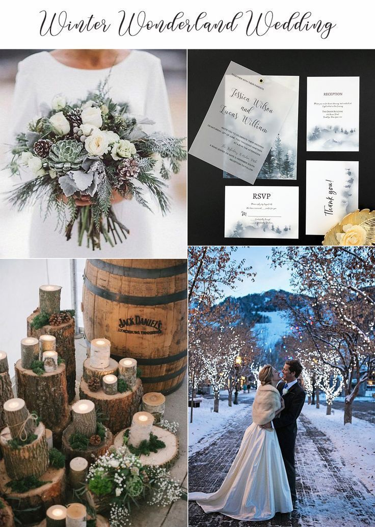 Vellum Paper Winter Wedding Invitations Forest Themed Wedding Invites with Free RSVP Cards