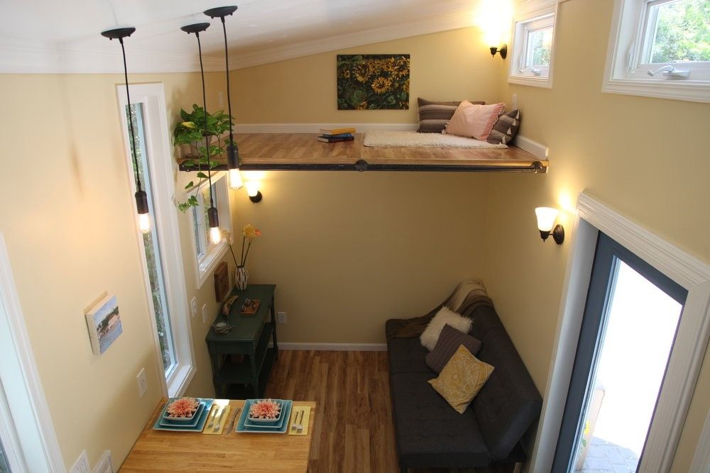 Tiny House On Wheels Two Lofts a two bedroom (two lofts) 300 square feet tiny house on wheels in