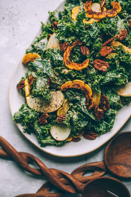 Harvest Moon Kale Caesar Salad With Creamy Maple Mustard