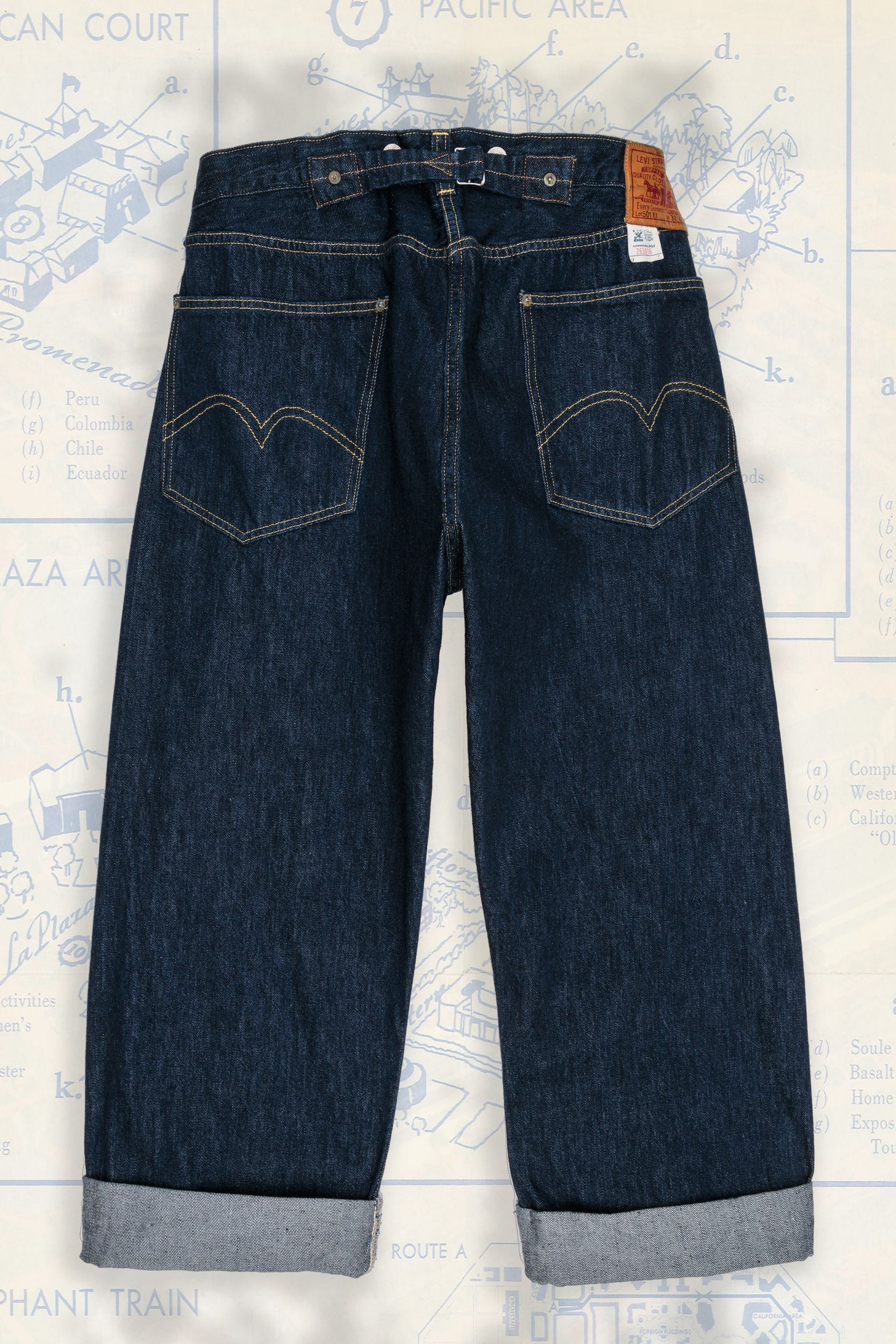 85b47e0f0e65f2 1933 501® Jeans | Levi's Vintage Clothing - back detail | Shoe ...