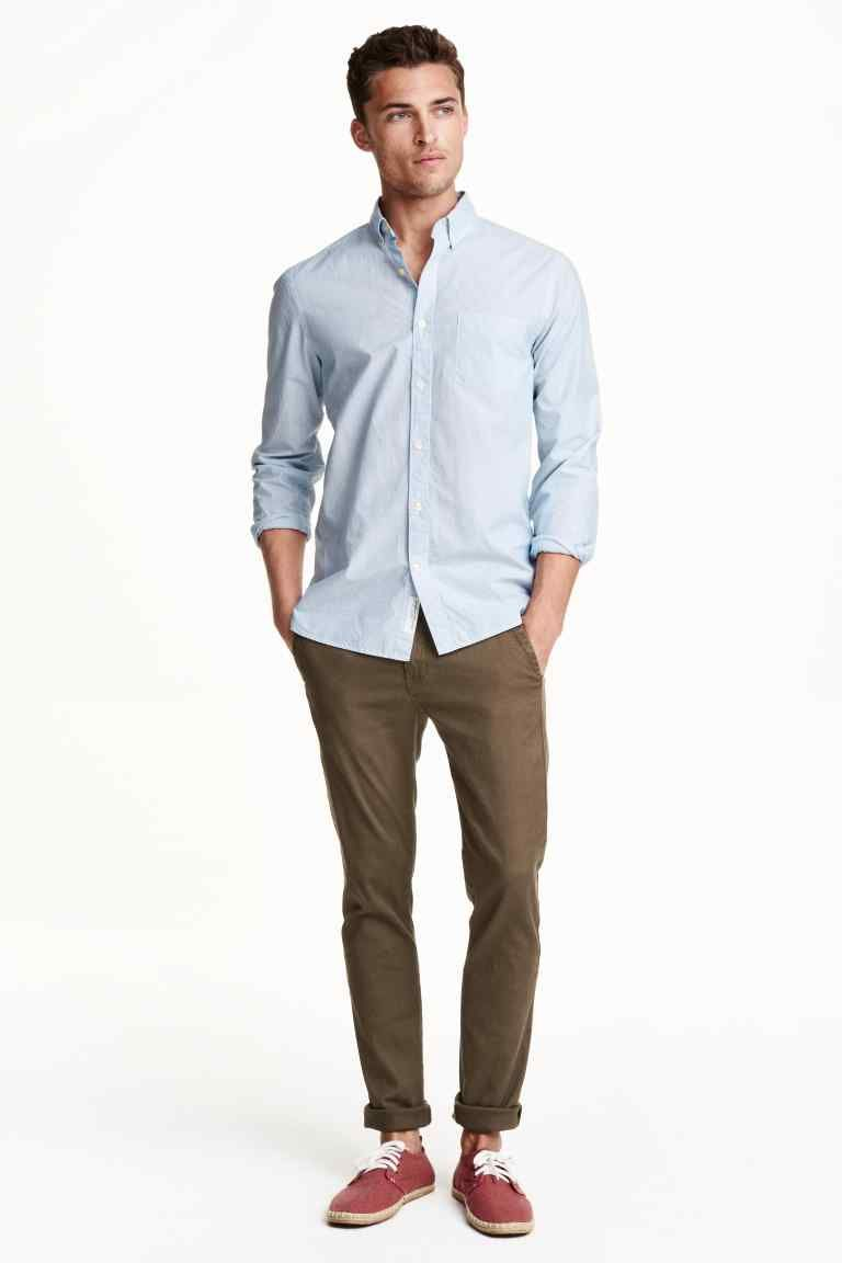 Chinos skinny fit hm chinos men outfit men casual