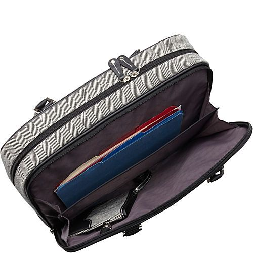 "Buy the Mobile Edge Classic Herringbone Laptop Tote (Small) - 14.1""PC / 15""MacBook Pro at eBags - A sophisticated alternative to a traditional laptop bag, this tote offers fashion and function for t"