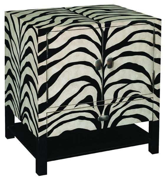Safari Zebra End Table Revive Your Living Room Furniture Arrangement With  The Exotic Flair Of This