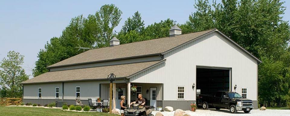 Pole barn garage with lean to alexandria indiana fbi for Pole barns indiana
