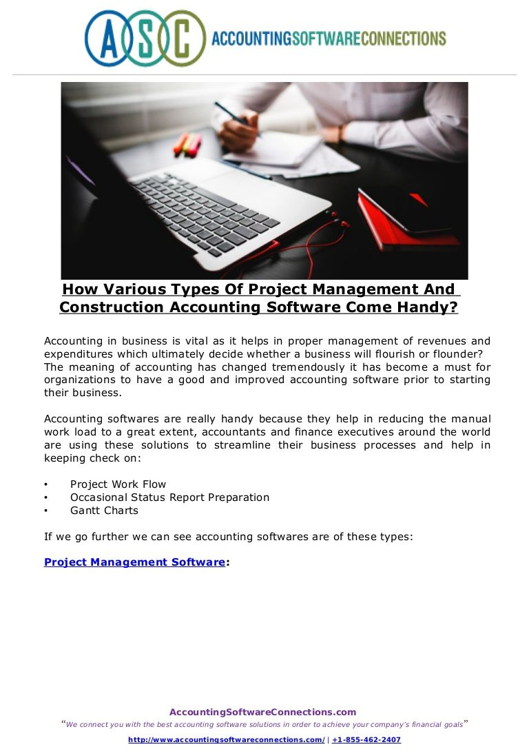 Project Management, Accounting Software