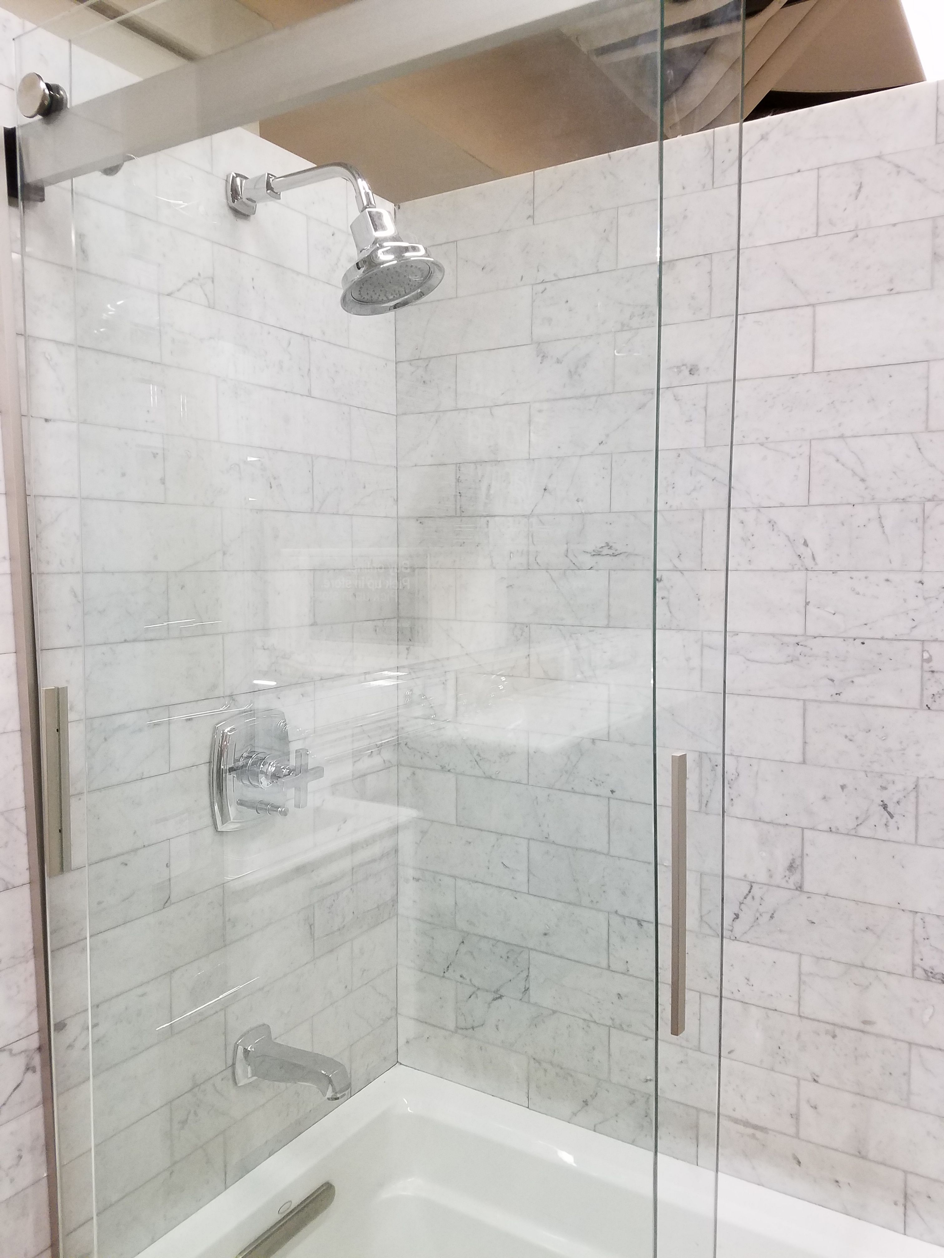 Light marble tile   Bathroom remodel   Pinterest   Marble tiles ...