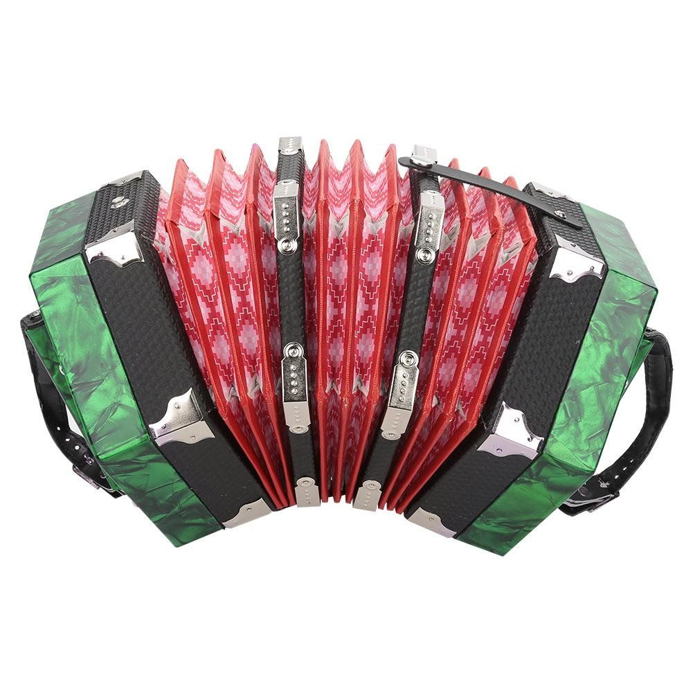 Vbestlife Diatonic Accordion Professional 20 Buttons