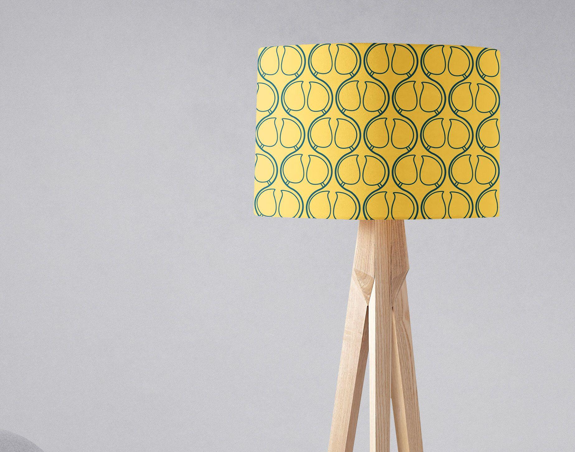 Yellow Light Shade, Lampshade, Yellow Lighting, Yellow Table Lamp, Yellow