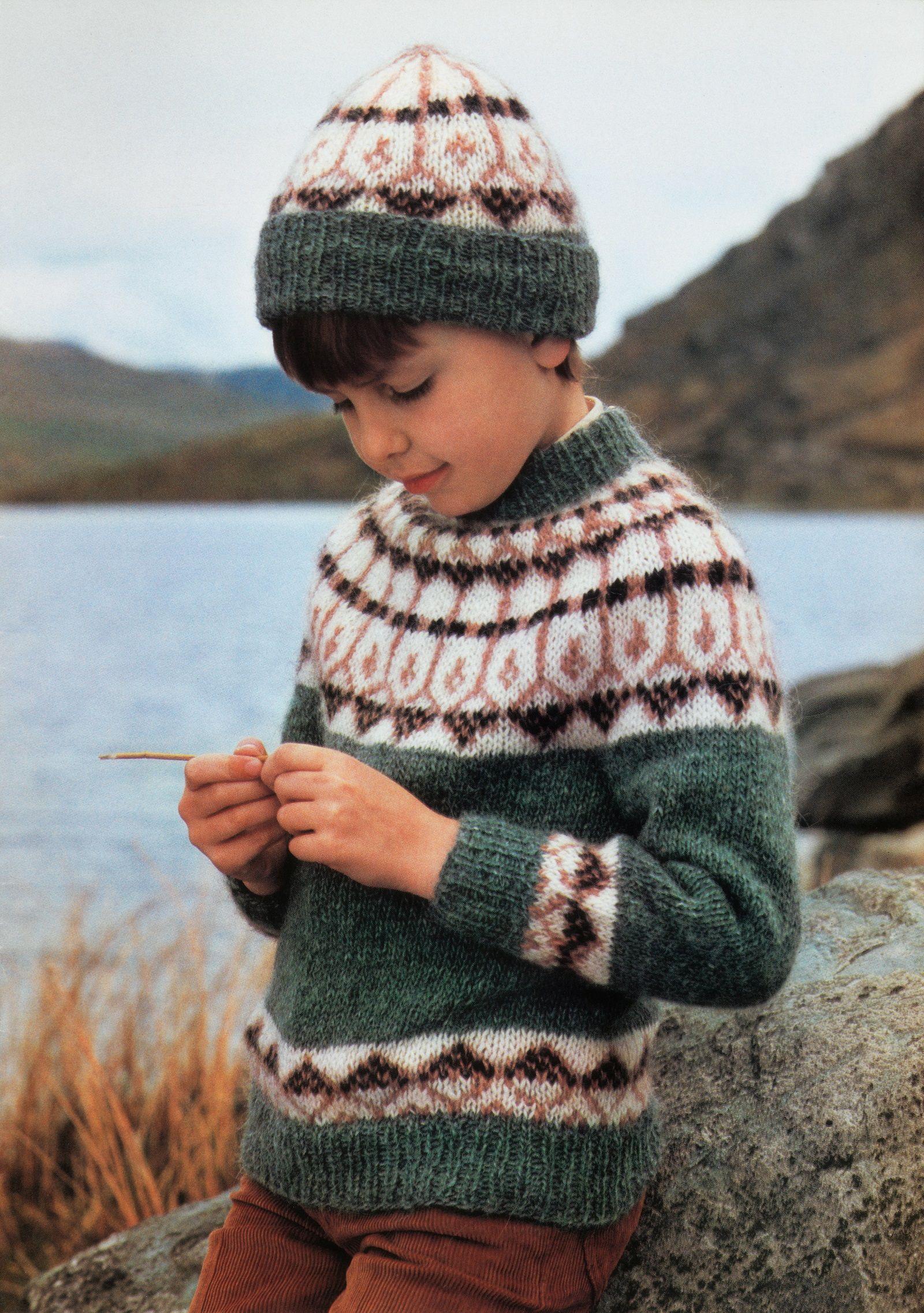 Mohair Pinterik0 Boys Kids Lopi Lopapeysa Icelandic Sweaters Fuzzy