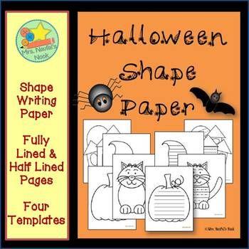 Halloween Shape Paper Blank form, Halloween math and Math - halloween writing ideas