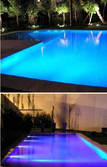 Architectural pool lighting done beautifully and safely using Visual Lighting Technologies // & Architectural pool lighting done beautifully and safely using Visual ...