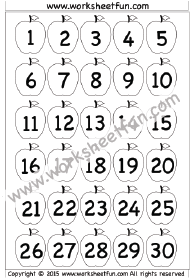 Smart image with regard to free printable numbers 1 30
