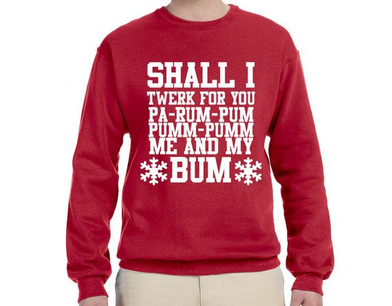 Funny Shall I Twerk For You Ugly Christmas Sweater By Funtimetees