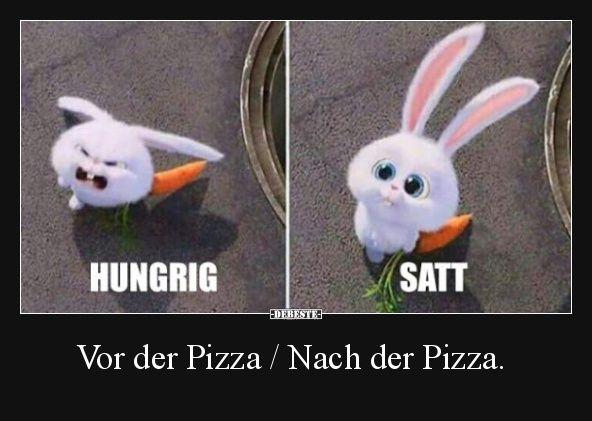 Vor der Pizza / Nach der Pizza. | Lustige Bilder, Sprüche, Witze, echt lustig