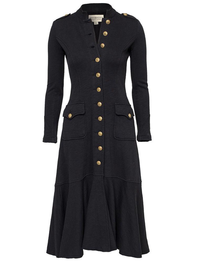 NEW Ralph Lauren Denim\u0026Supply Military Officer Long Coat Jacket- Womens- XS  #RalphLauren #