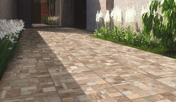 Cer mica para piso rocalla con impresi n digital for Ceramica para fachadas exteriores