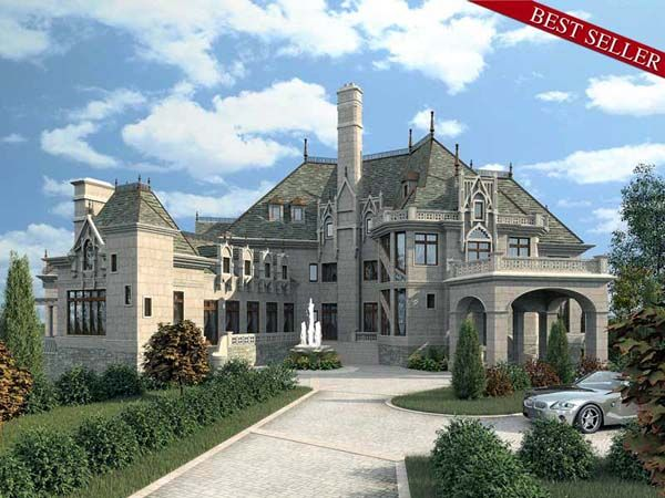 Greek Revival Style House Plan 72130 With 6 Bed 5 Bath 4 Car Garage Luxury House Plans Castle House Plans Castle House