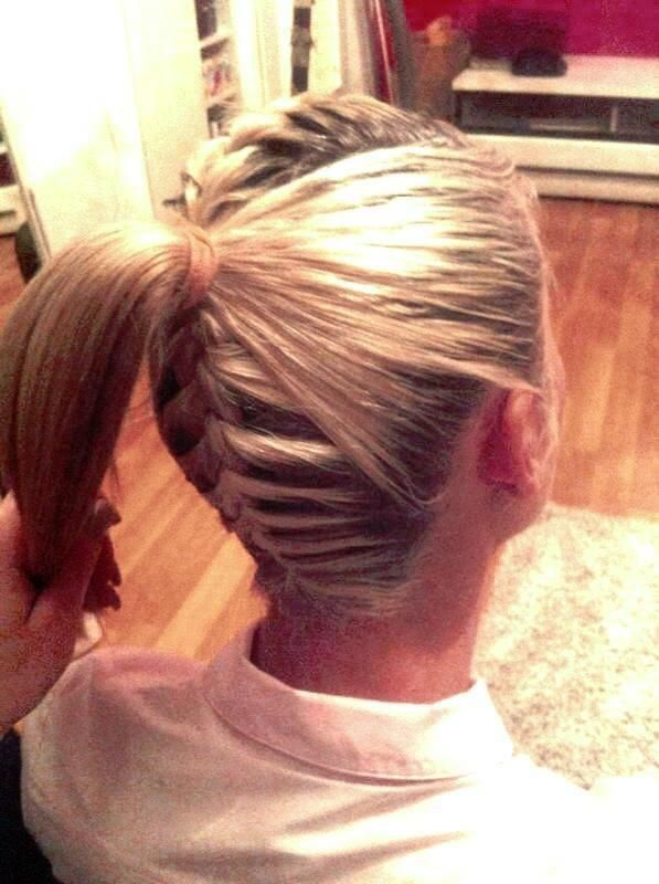French braid on top and bottom