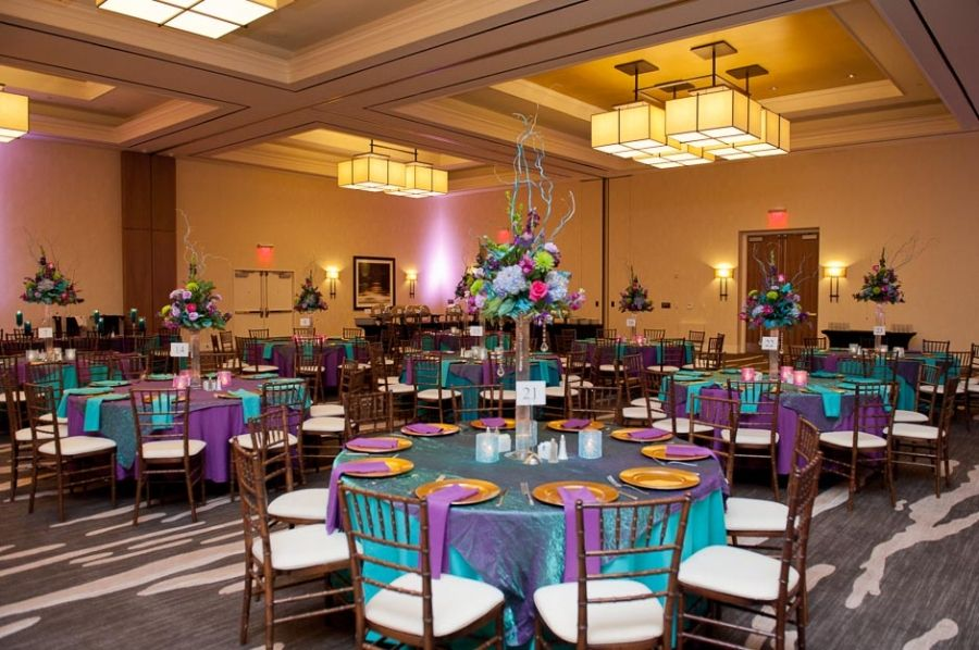 Teal And Purple Wedding Ideas: Teal, Purple, And Gold Wedding Decor