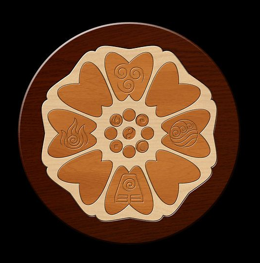 Avatar The Last Airbender Symbol Order Of White Lotus Tile With