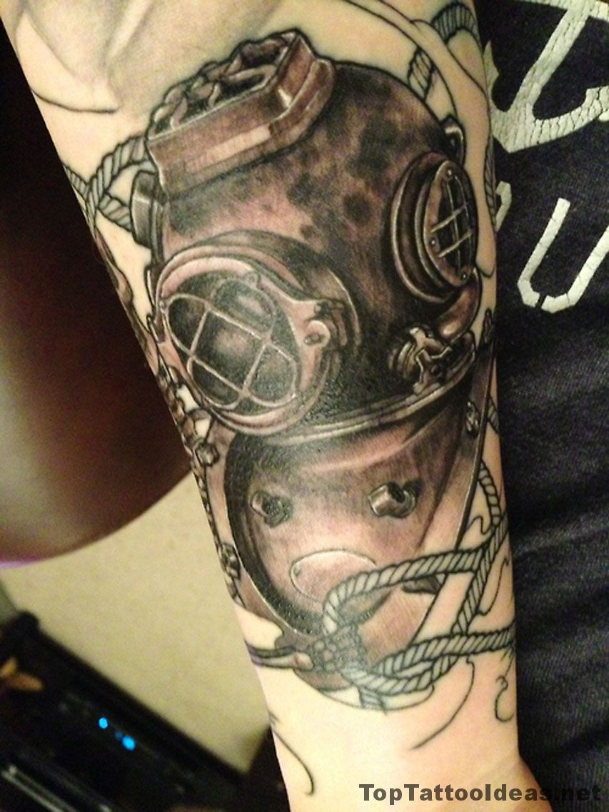 picture 60 Diver Tattoo Designs For Men – Underwater Ink Ideas