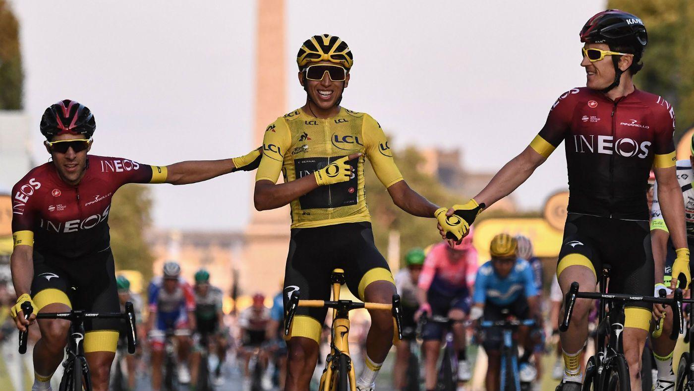 Tour De France 2019 Egan Bernal of Colombia wins the