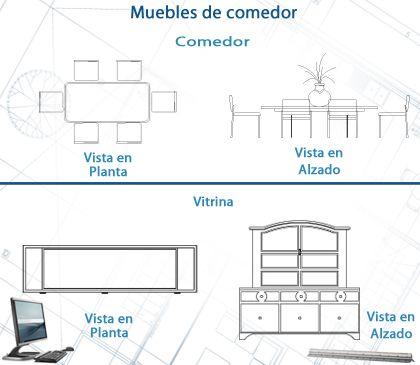 Muebles de comedor arquitectura pinterest muebles de for Representacion arquitectonica en planos
