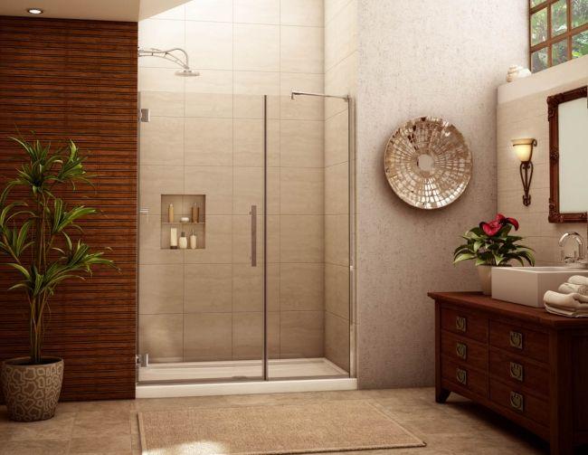 badezimmer ohne fliesen wand holz paneele beige duschebereich - badezimmerwände ohne fliesen