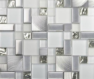 Stainless Steel Mosaic Tiles Glass Mosaic Tile Backsplash Mosaic Tiles  SSMT104   Modern   Tile   Amazing Ideas