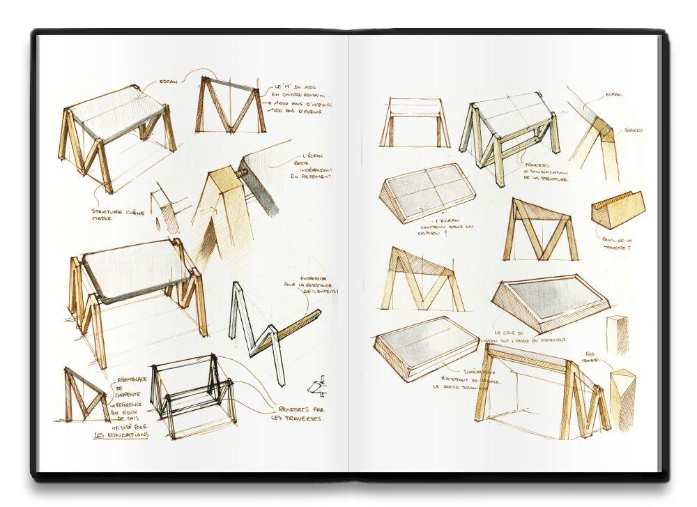 table num rique mm par alix videlier croquis blog et table design. Black Bedroom Furniture Sets. Home Design Ideas