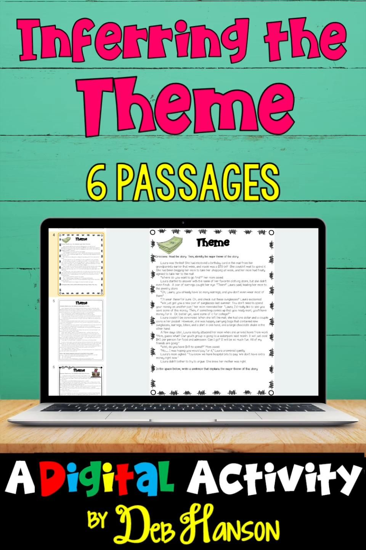 Digital Theme Worksheets Video In 2020 Reading Comprehension Activities Reading Comprehension Worksheets Teaching Upper Elementary