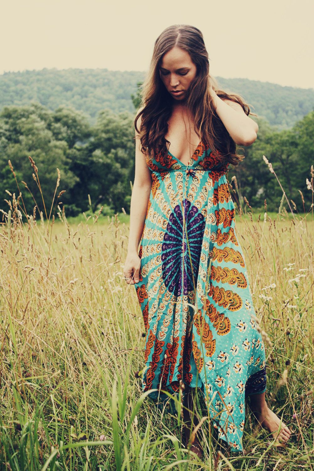 reserved for elsie handmade hippie dress maxi dress