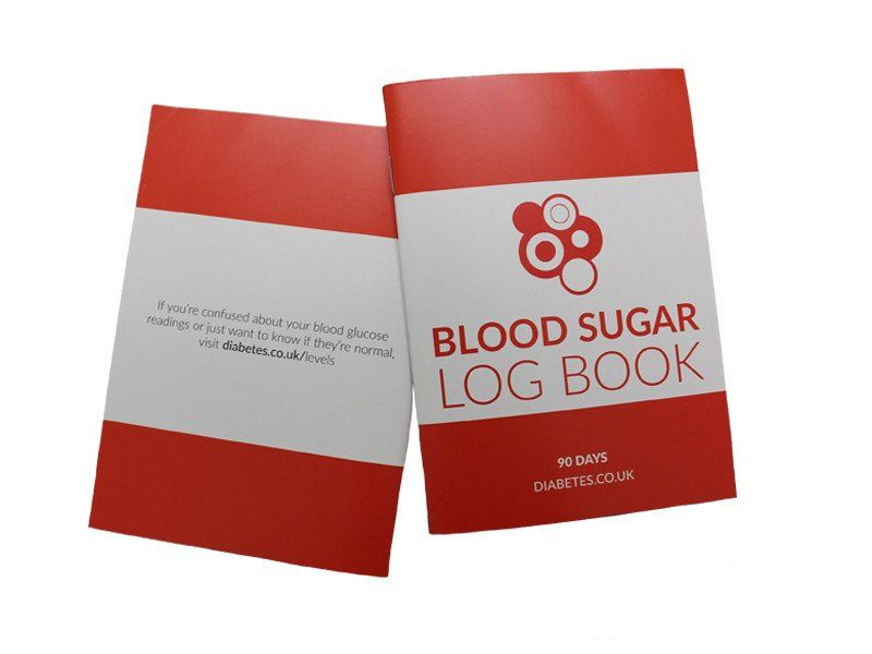 1x a6 sized blood sugar logbook columns for before and after meals