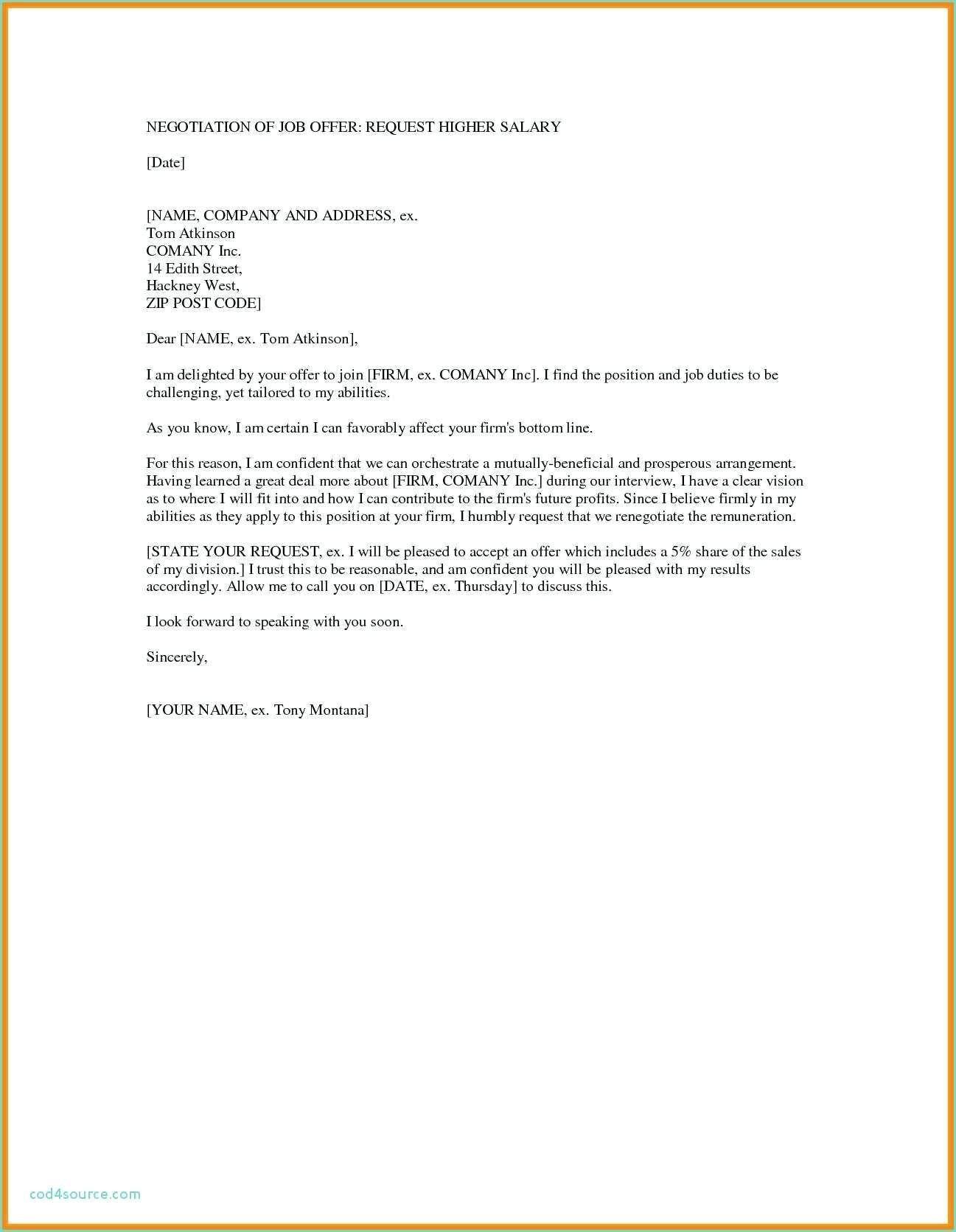 Fresh Negotiating Job Offer Sample Letter (With images