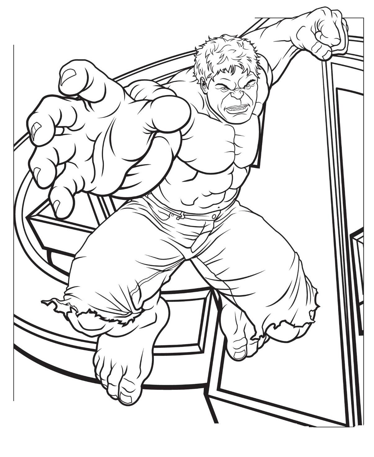 Hulk Jump Coloring Page | Colouring in! | Pinterest