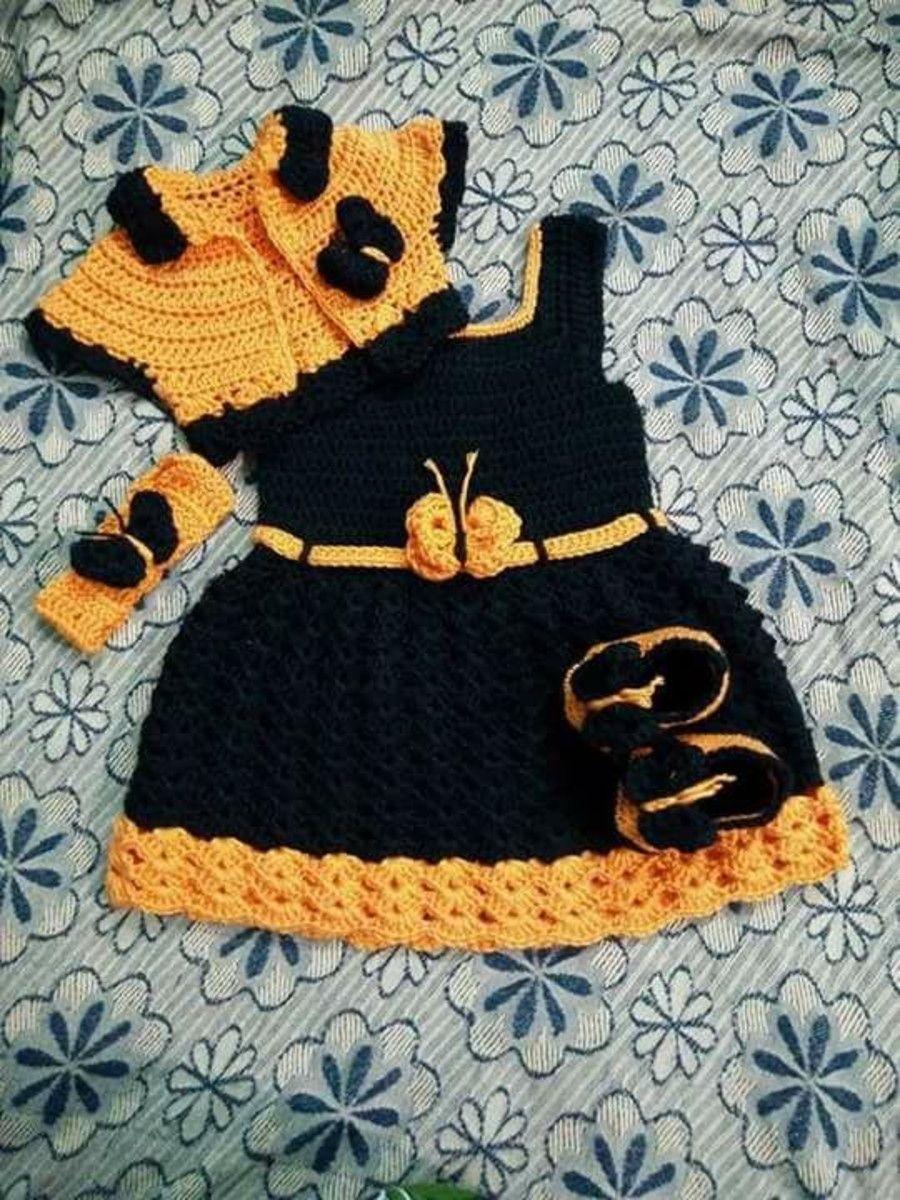 d61ca27b7c vestido de crochê