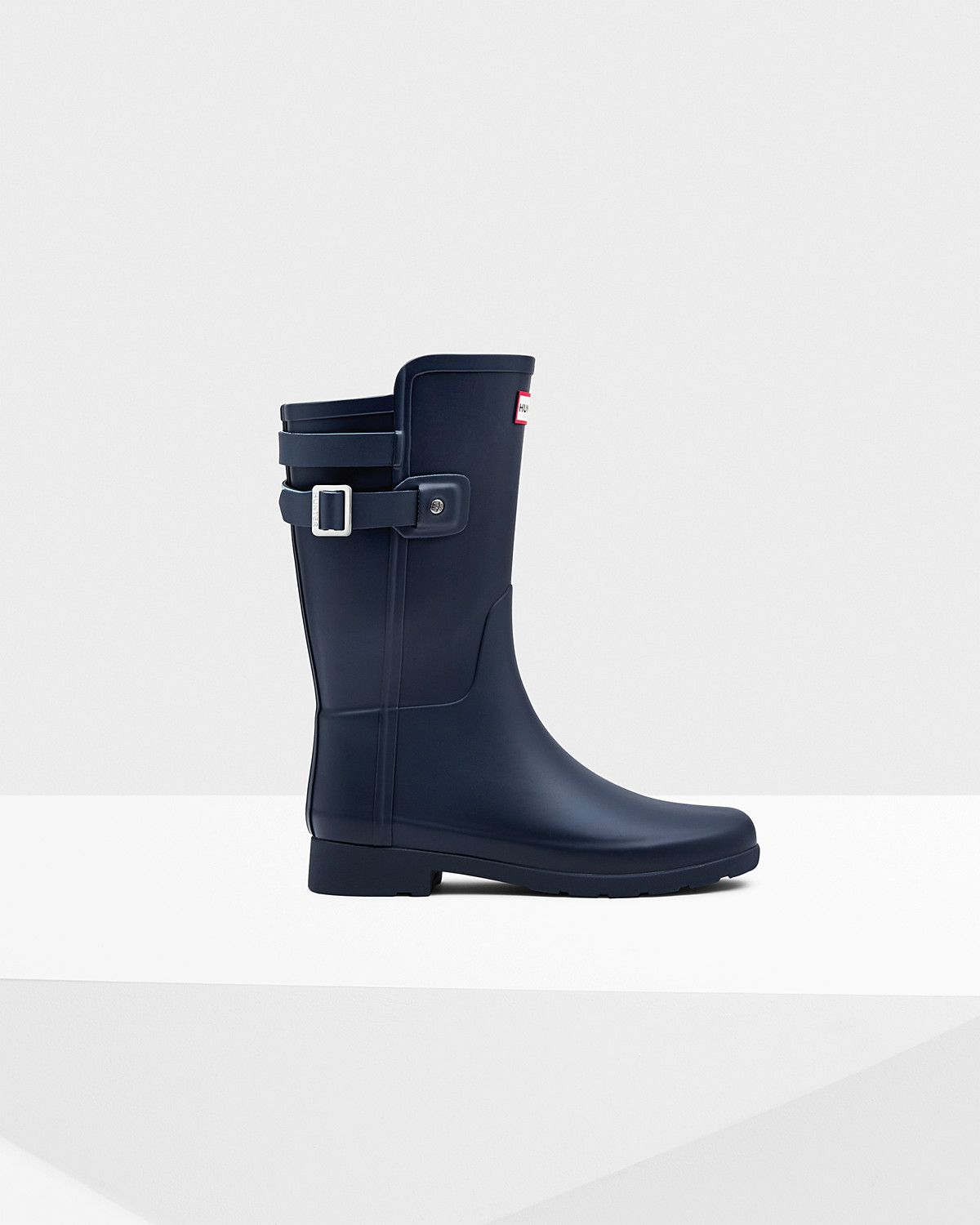 Womens Blue Short Refined Rain Boots | Official US Hunter Boots ...